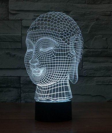 Buddha 3d LED Lamps