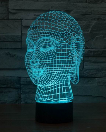 Buddha 3d LED Lamps2