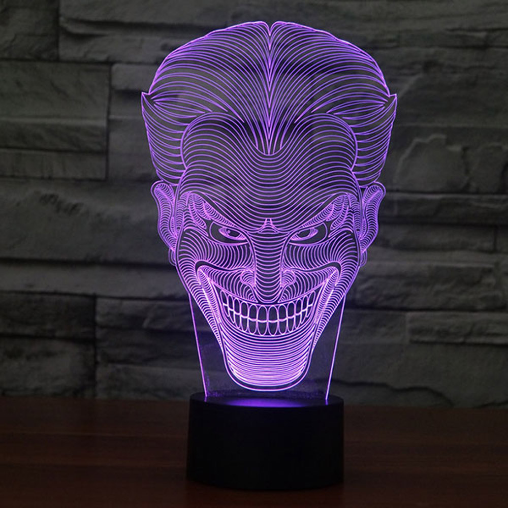 Crazy Smile Design 3d Led Lamp