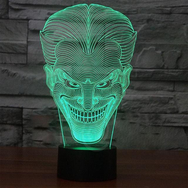 Joker 3d led lamp