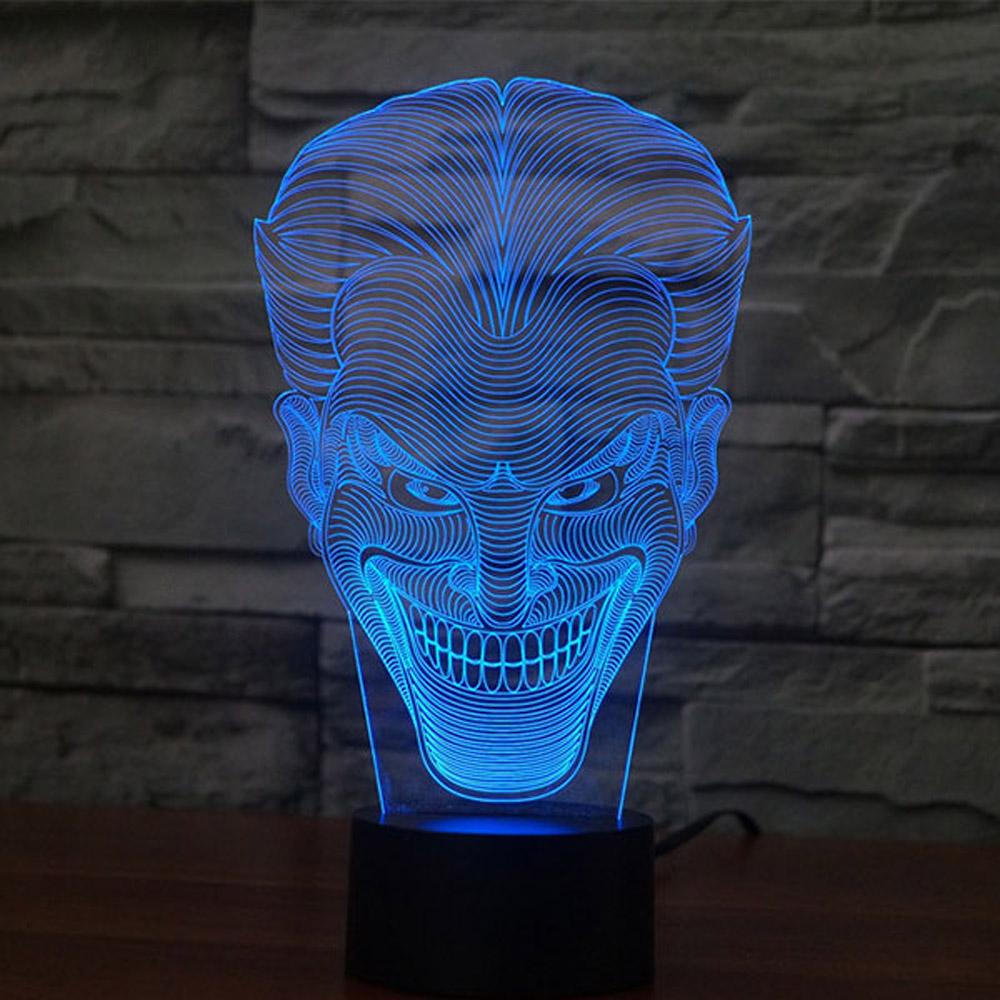 Crazy Smile Design 3d Led Lamp