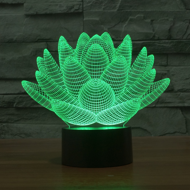 Lotus flower 3d led light
