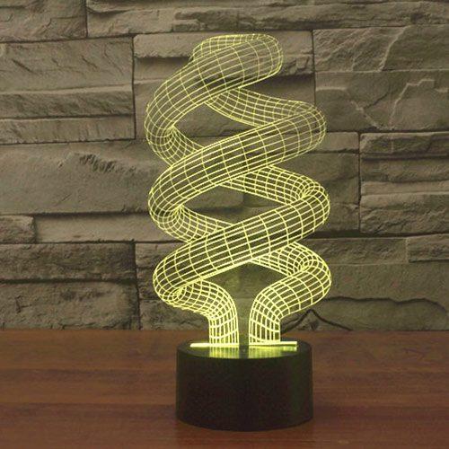 Spiral 3d led lamp 2