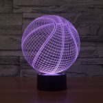 Basketball 3d led lamp