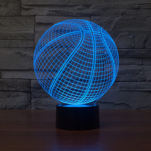 Basketball 3d led lamp