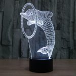 Dolphin 3d led lamp