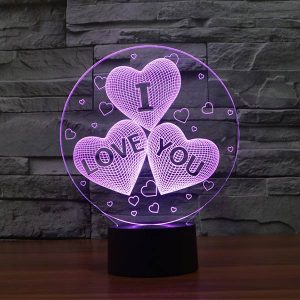 I love you 3d led lamp 2