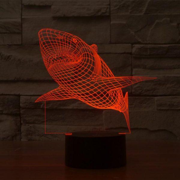 Shark 3d led lamp