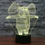 Cute Elephant 3d led lamp 1