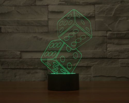 Dice Stack 3D LED Lamp