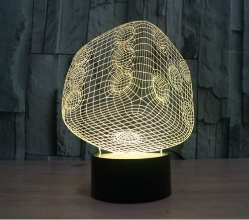 Dice 3d led lamp 2