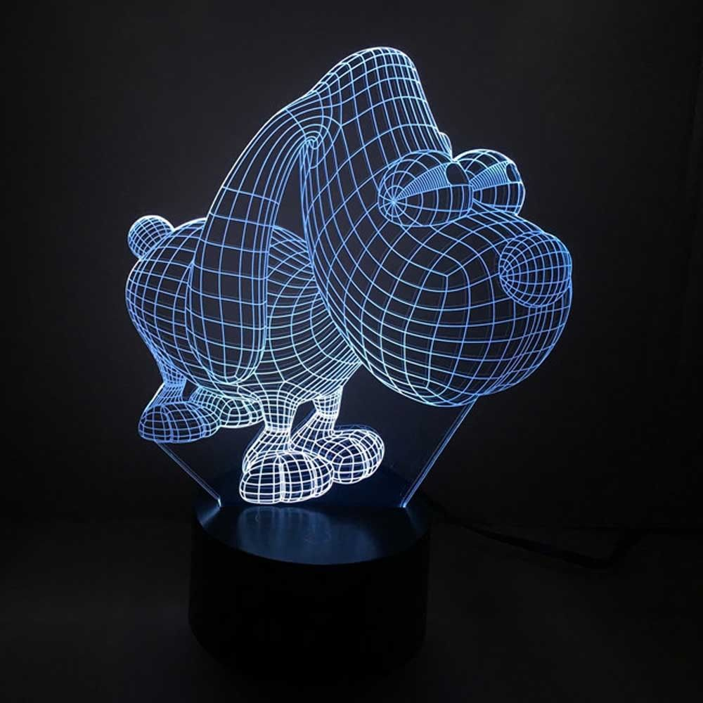 Dog Design 3d LED Lamp