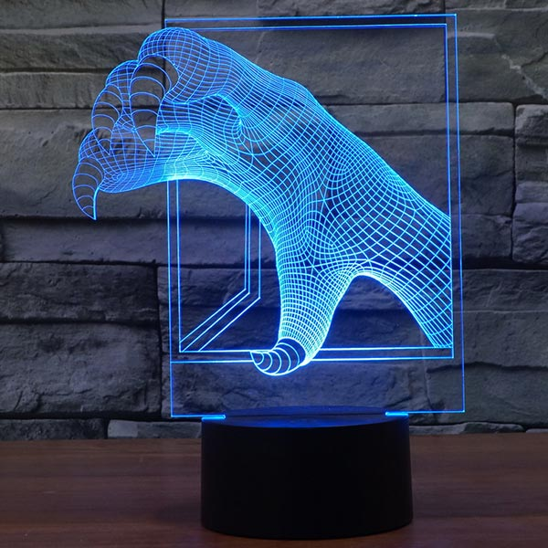 Dragon Claw 3D LED Lamp
