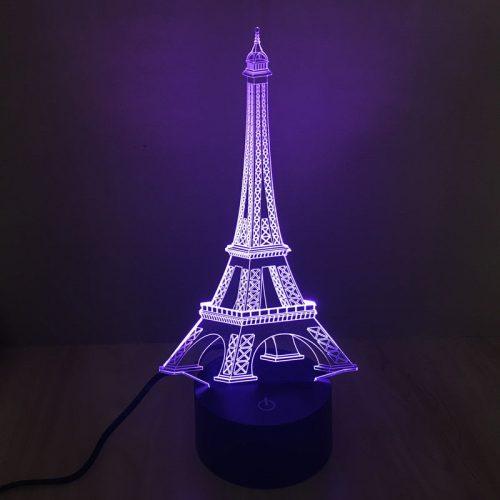 Eiffel Tower 3d led lamp