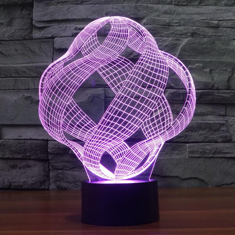 Illusion model 1 3d led lamp