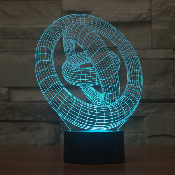 Illusion Rings 3d LED Lamp