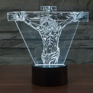 Jesus 3d led lamp