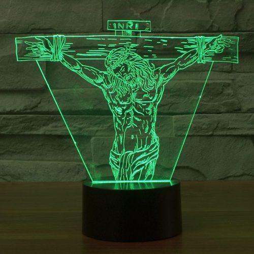 Jesus 3d led lamp
