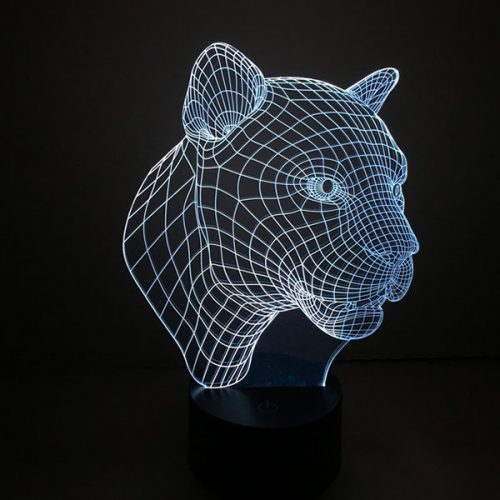 Leopard 3d led lamp