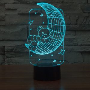 Moon 3d led lamp