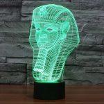 Pharaoh 3D LED Lamp