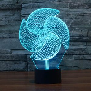 Pinwheel 3d led lamp