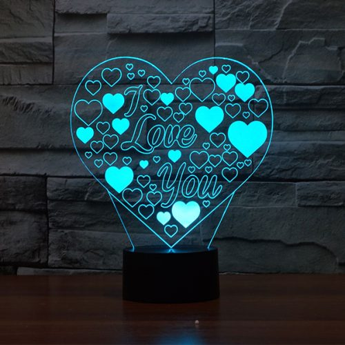 Romantic Love Heart 3d led lamp