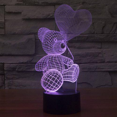 Teddy Bear 3d led lamp