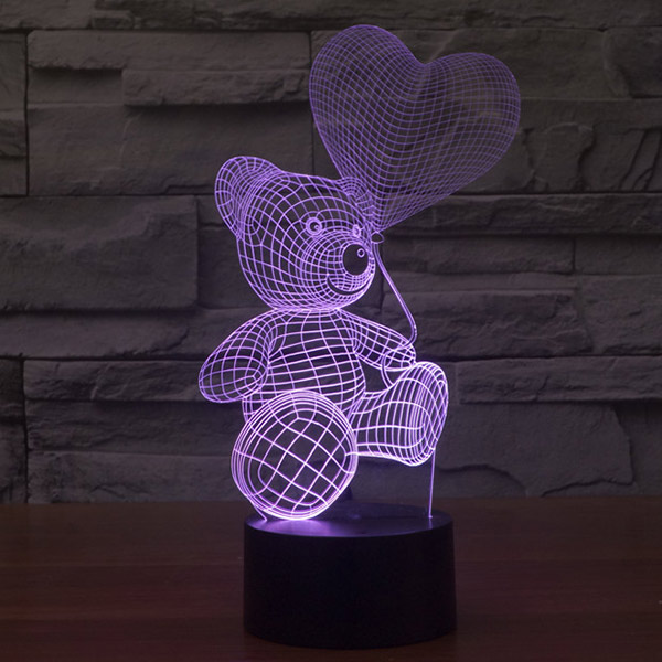 Teddy Bear 3d Led Lamp