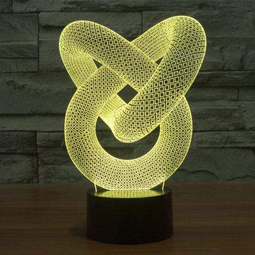 Illusion modal 4 3d led lamp