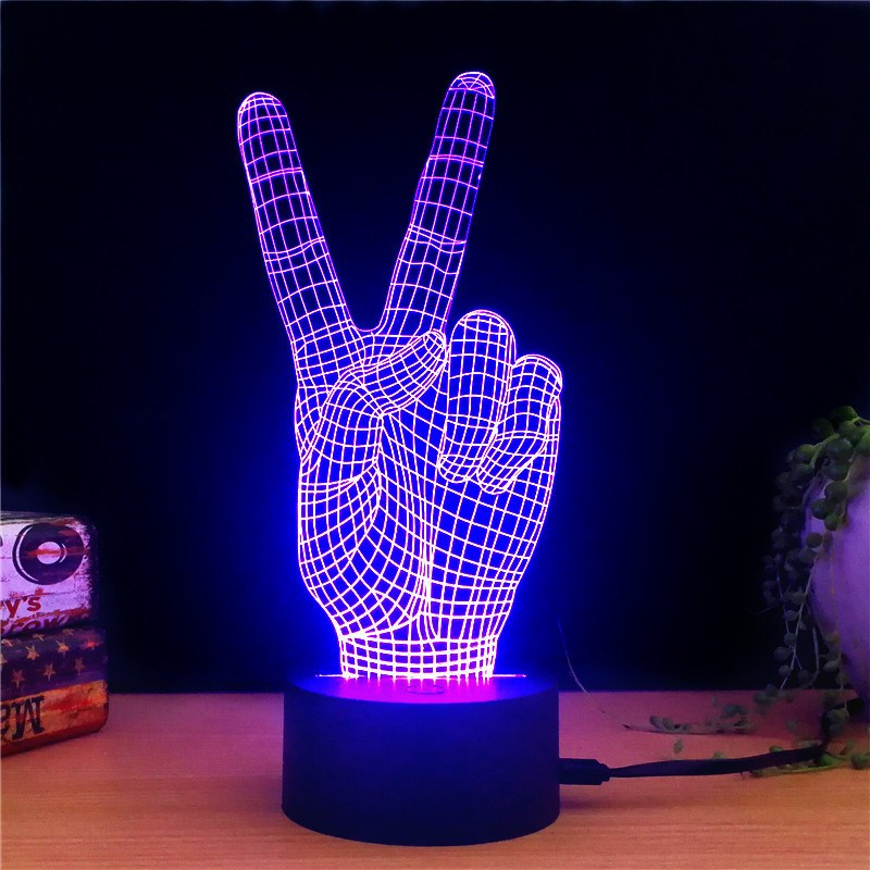 Peace 3d Led Lamps