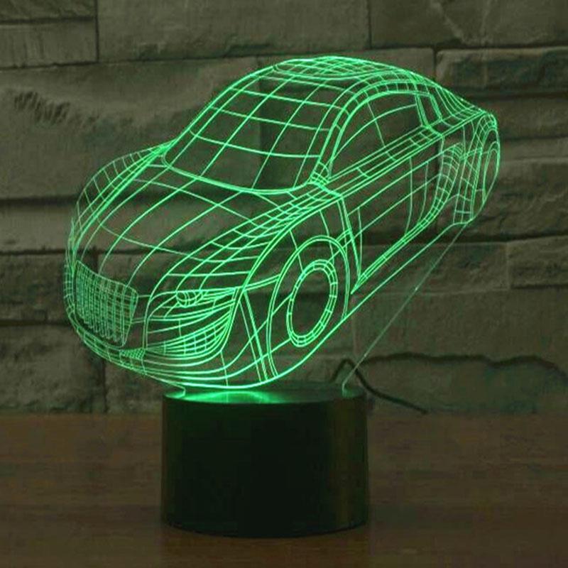 Fast Car Design 3d Lamp