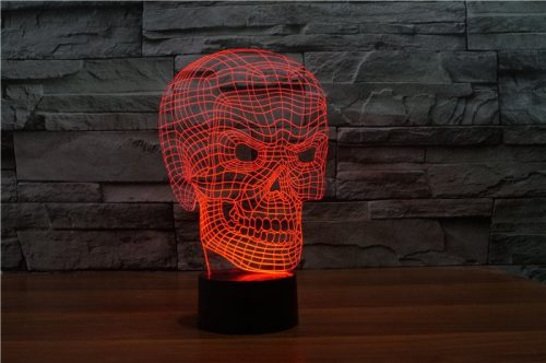 Red Scary Skull 3d led lamp