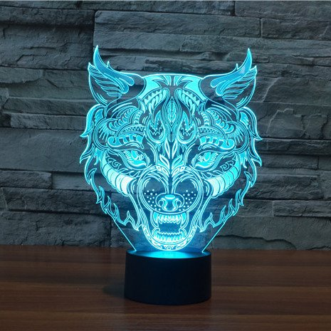 Werewolf 3d led lamp
