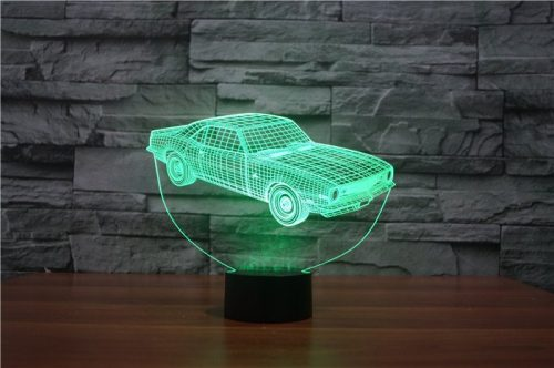 Green Car 3d led lamp