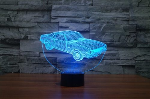 Blue Car 3d led lamp