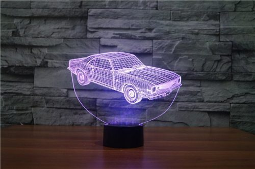 Purple Car 3d led lamp