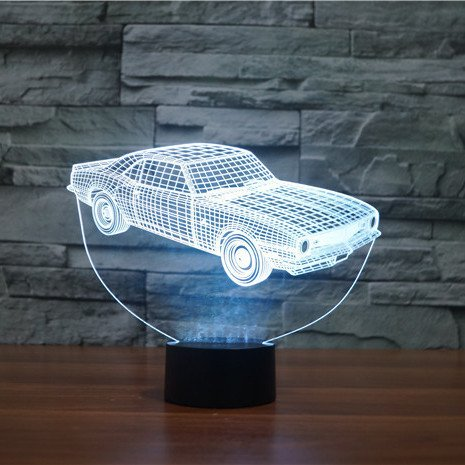 White Car 3d led lamp