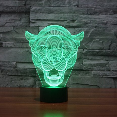 Lion 3d led lamp