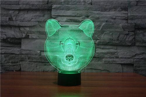 Bear 3d led lamp 2