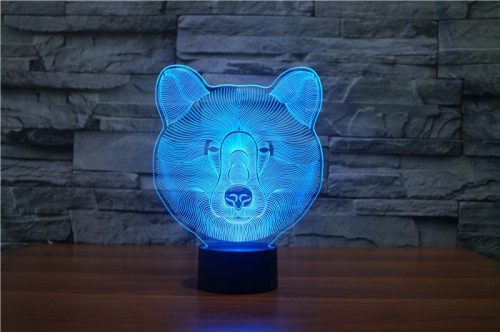 Bear 3d led lamp 3