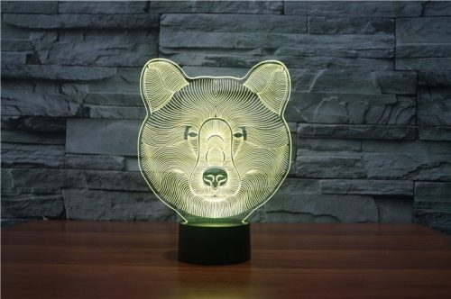 Bear 3d led lamp 4