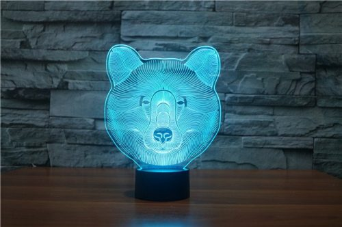 Bear 3d led lamp 5