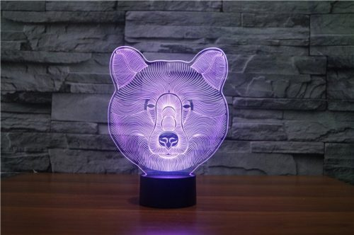 Bear 3d led lamp 6