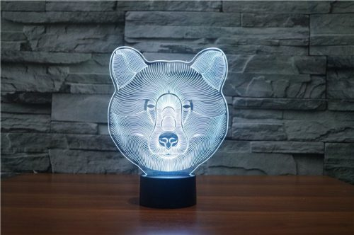 Bear 3d led lamp 7