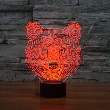 Bear 3d led lamp