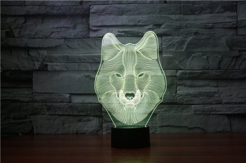 Wolf Face 3d led lamp 4