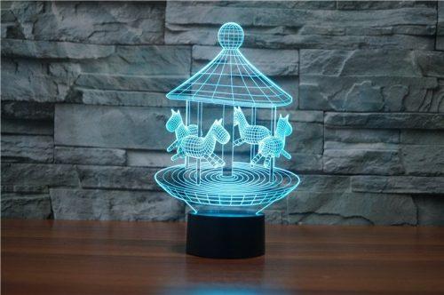 Aqua Merry Go Round 3d led lamp