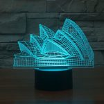 Sydney Opera House 3d led lamp 2