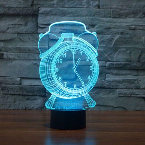Aqua Alarm Clock 3d led lamp